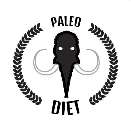siberia: Mammoth head. Mammoth vector logo.Paleo diet logo Illustration