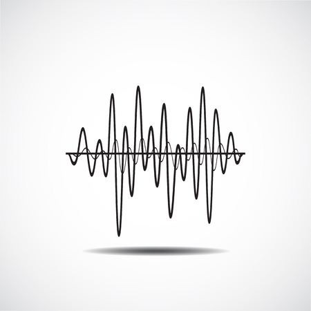 wave sound: Sound Wave Icon. Music soundwave icons set. Equalize audio and stereo sound, wave, melody. Vector illustration.