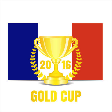 france: Trophy cup with laurel wreath 2016