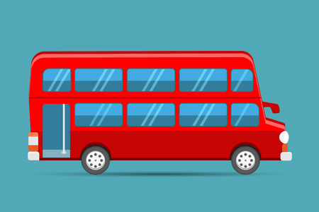 decker: Double Decker Red Bus, london red bus vector Illustration