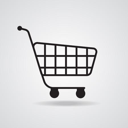 shopping cart icon: Supermarket shopping cart icon