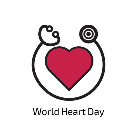 World Heart Day Vettoriali