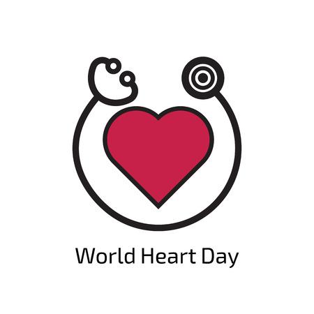 World Heart Day Stock Illustratie