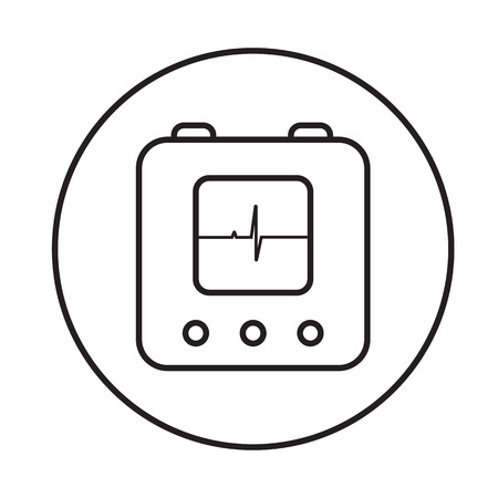 defibrillator: defibrillator icon linear