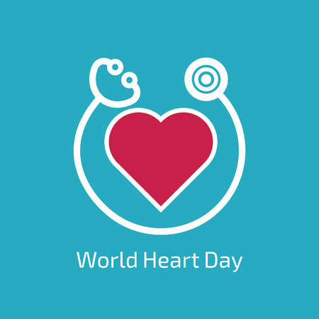 World Heart Day Vectores