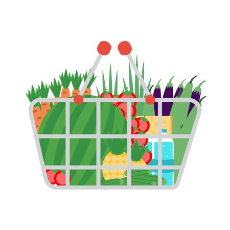 supermarket shopping cart: Supermarket shopping cart Vectores