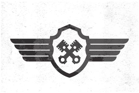 Logotipo del ala del automóvil. Ilustración vectorial Foto de archivo - 44520975