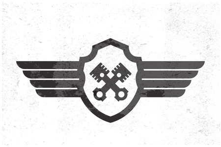Automotive Wing  Logo. Vector illustration Illustration