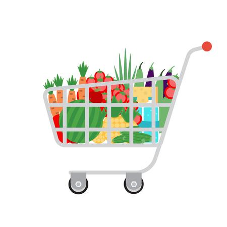 supermarket shopping cart: Supermercado carrito de la compra