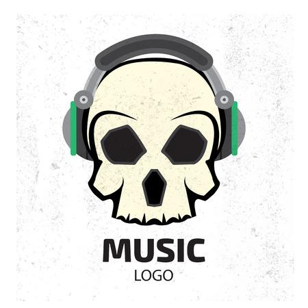 dubstep: Music skull logo