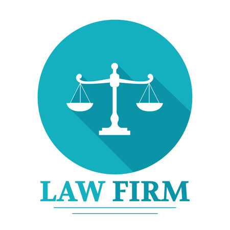 scale icon: Law Firm logo Illustration