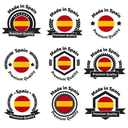 made in spain: Made in Spain badge set Illustration