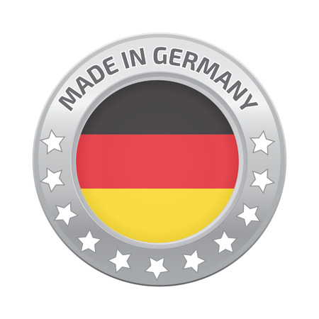 made in germany: Made in Germany silver badge