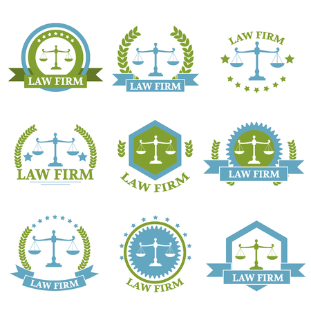 firm: Law Firm logo set Illustration