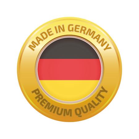 Hergestellt in Deutschland Abzeichen Illustration