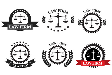 firm: Law Firm logo set Illustration