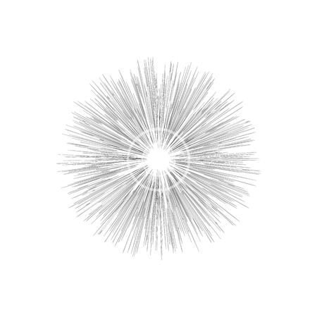 Engraving star. Monochrome star burst Illustration