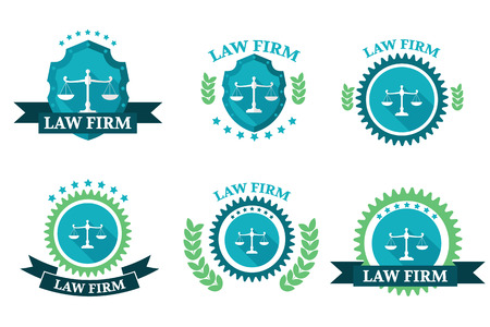 identity protection: Law Firm logo set Illustration