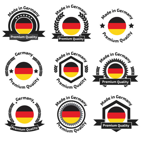 made to order: Made in Germany labels and badges. Made in Germany logo set