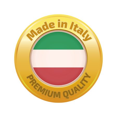 made in italy: Made in Italy badge gold