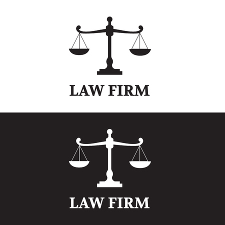 Law Firm logo set Vectores