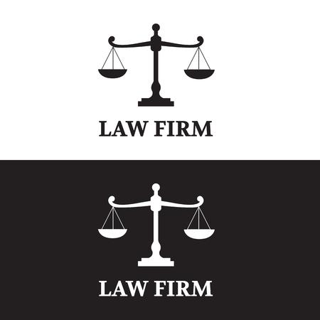 Law Firm logo set Illustration