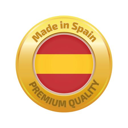 made in spain: Made in Spain badge gold