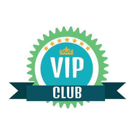 members: VIP club logo in flat style Illustration