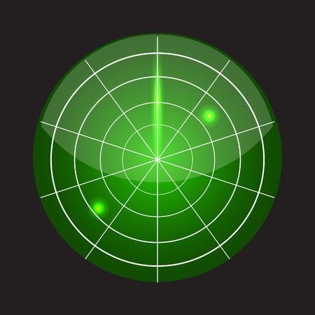 screen: Radar screen vector
