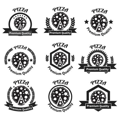 logo de comida: Pizza Conjunto de la insignia