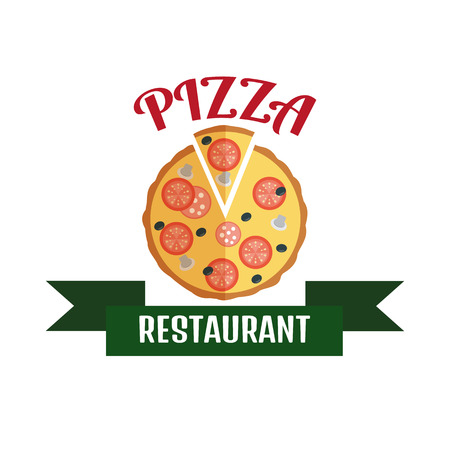 business icon set: Pizza delivery logo. Fast delivery logo. Pizza logo