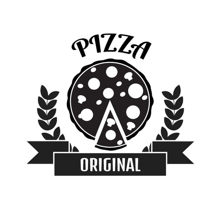 logo: Pizza delivery logo. Fast delivery logo. Pizza logo