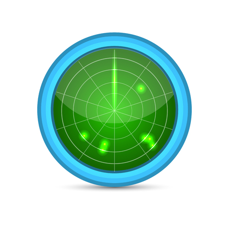 screen: Radar screen vector