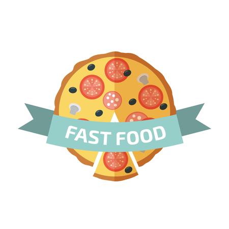 logo: Pizza logo Çizim