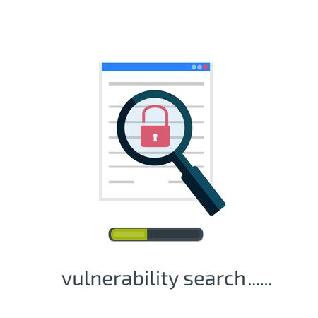 breach: vulnerability search icon. Vector illustration