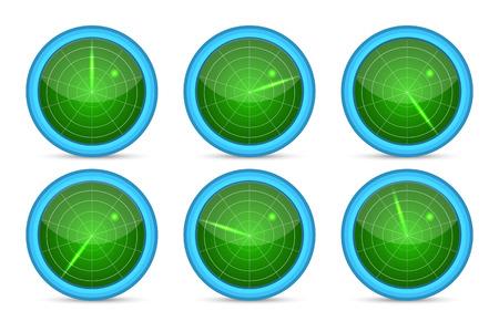 radar: Radar screen vector