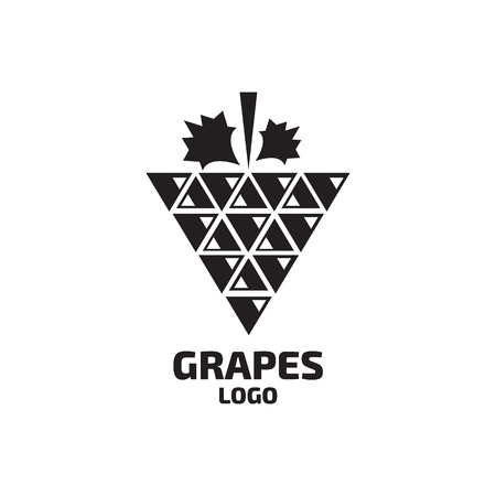 logo: Grapes vector logo. Wine, vine logo. Grapes logo