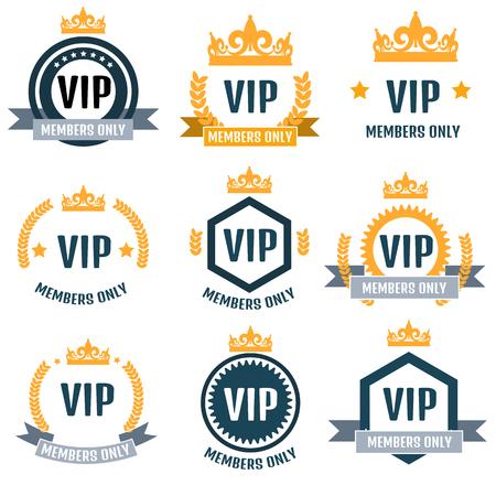 prestige: VIP Club members only logo set