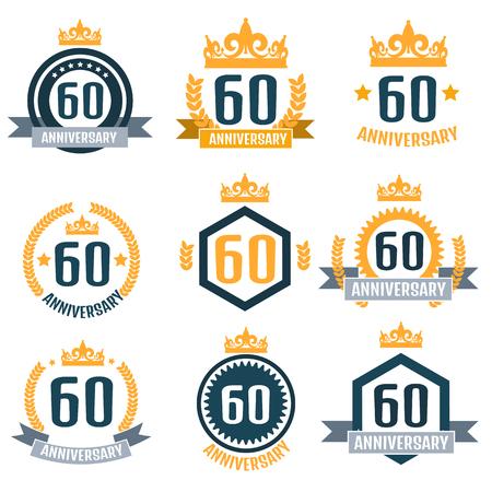 Anniversary logo 60th. Anniversary 60.