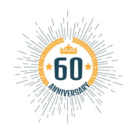 60th: Anniversary logo 60th. Anniversary 60.