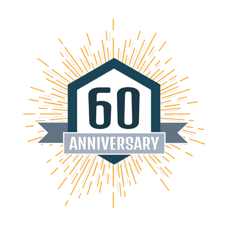 60th: Anniversary logo 60th. Anniversary 60.