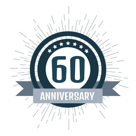 60: Anniversary logo 60th. Anniversary 60.
