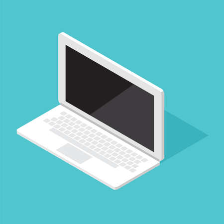Computer Monitor Isometric laptop Illustration