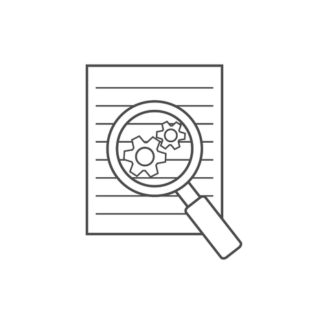 disclosure: Preparation business contract linear icon