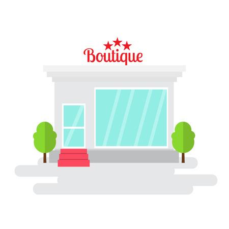 barbershop: Barbershop of flat style building. Vector illustration. Illustration