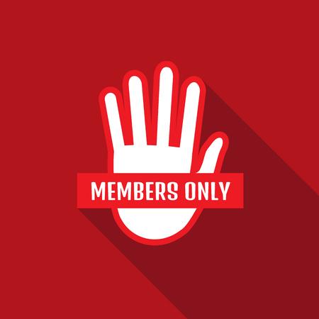 strangers: VIP Club members only banner Illustration
