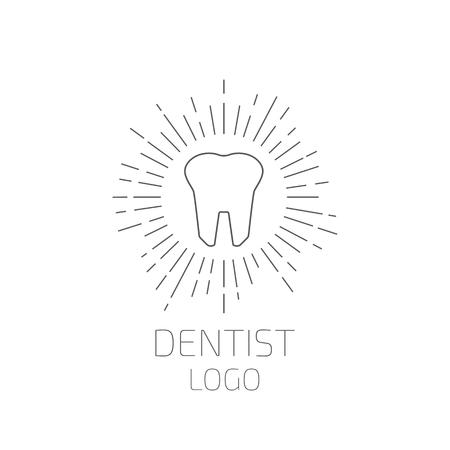 logo: Dentist logo. Tooth logo. Vector illustration