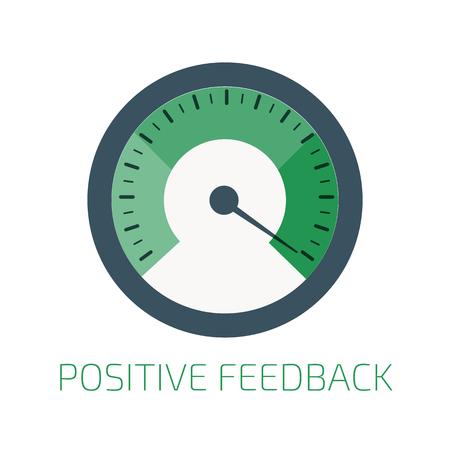 rating gauge: Positive feedback indicator.
