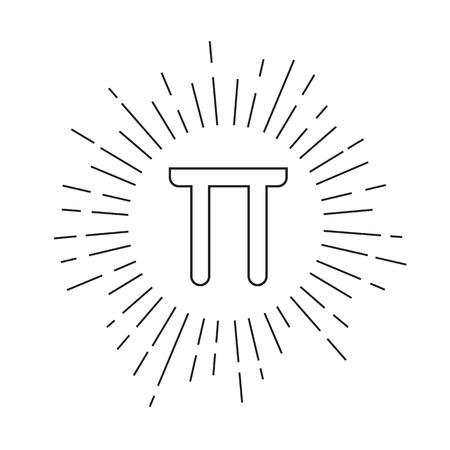 pi: Flat mathematic Pi icon Illustration