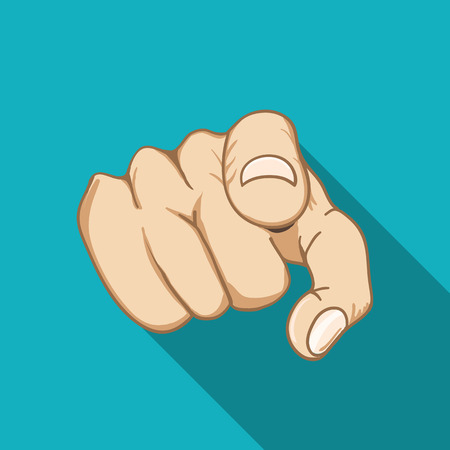 pointing hand: Job interview. Recruitment Hand.